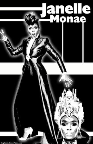"""Janelle Monae /""""Black Light/"""" Poster"""