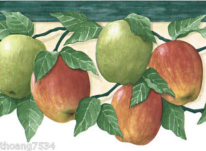 Image Is Loading Fruit Red Green Apple Apples Die Cut Kitchen