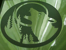 NEW W3 WOLF MOON TREE NIGHT Airbrush Stencil Template Mask Paint Step Craft