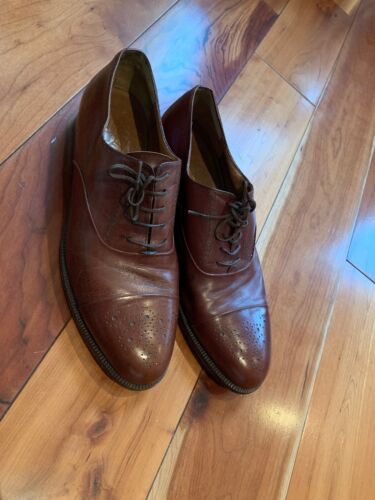 salvatore ferragamo Brown Dress Oxford Shoes 9.5