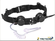 Z-TACTICAL Tactical Throat Mic BK NERO LARINGOFONO RADIO CUFFIE AIRSOFT SOFTAIR