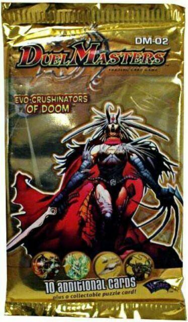 1 Pack Duel Masters Booster Pack DM-02 EVO Crushinators of Doom Sealed