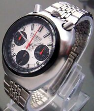 VTG CITIZEN 8110 BULLHEAD  AUTOMATIC CHRONOGRAPH DATE & DAY JAPAN SS MENS WATCH