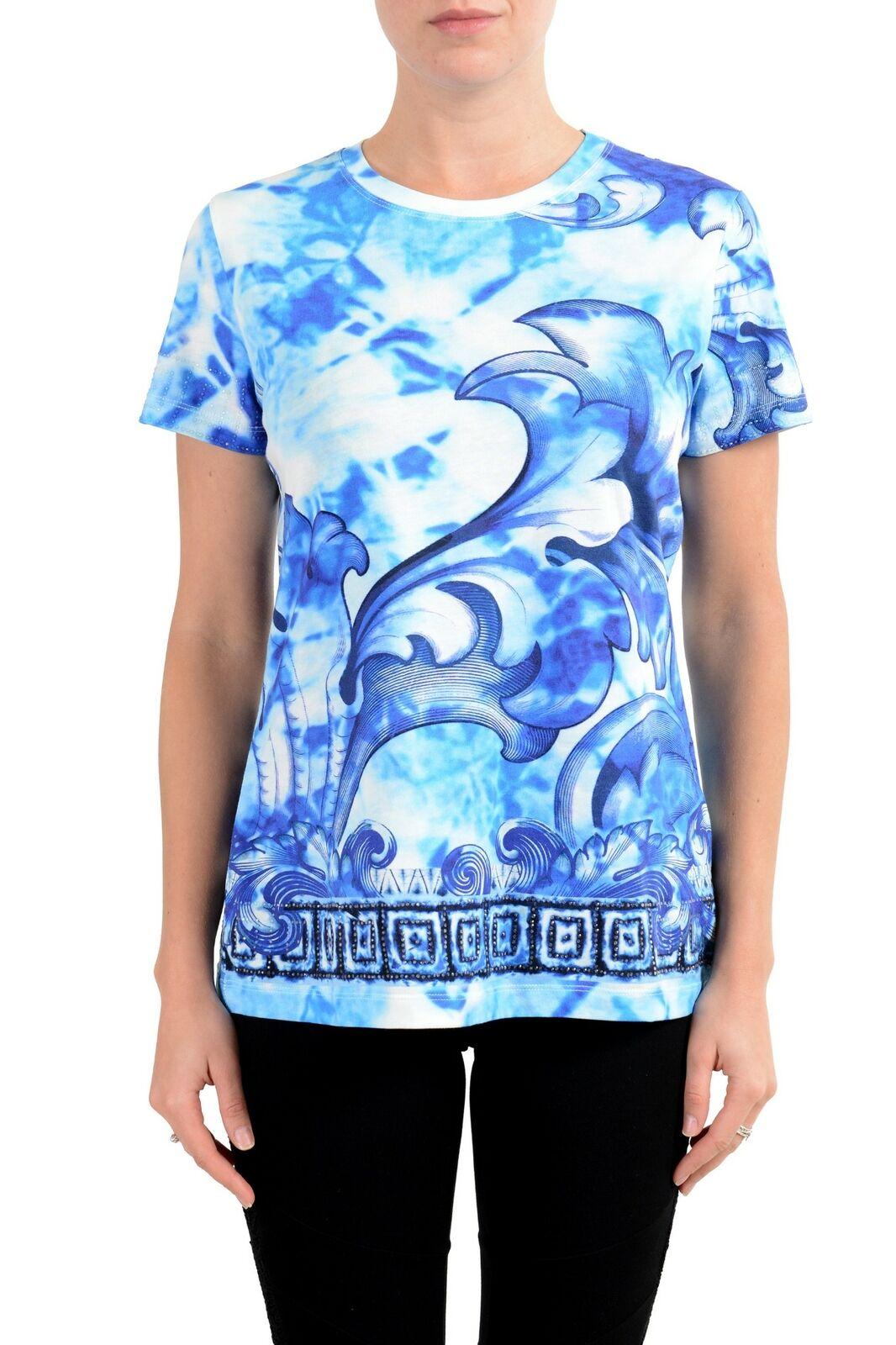 Versace Collection Damen Designiert Kurzärmlig Rundhalsausschnitt T-Shirt