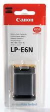 Canon originale lp-e6n/lp-e6 N BATTERIA per EOS/7d/70d/6d/5d/5dm2/5dm3/5ds/5dsr