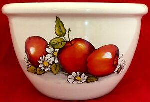 Shakers-amp-Thangs-Pottery-Apples-Stoneware-Large-Bowl-or-Planter-Gilmer-Texas-EUC