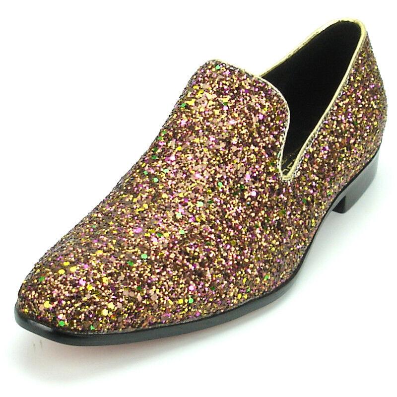 FI-7078 pink Glitter Slip on Loafer Fiesso by Aurelio Garcia