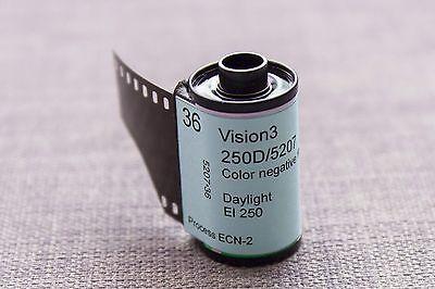 10 x Kodak Vision2 250D 35mm colour for still camera cine film