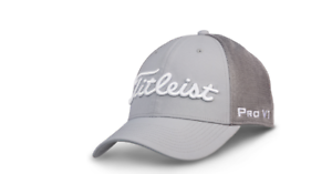 838f64765e5 Details about Titleist Tour Sports Mesh FJ Pro V1 Structured Hat   Cap  Headwear Fitted-Grey