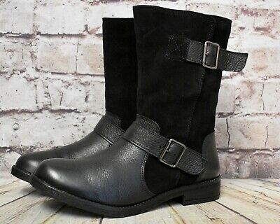 New Clarks Suede Leather Black  Boots Size UK 3-8