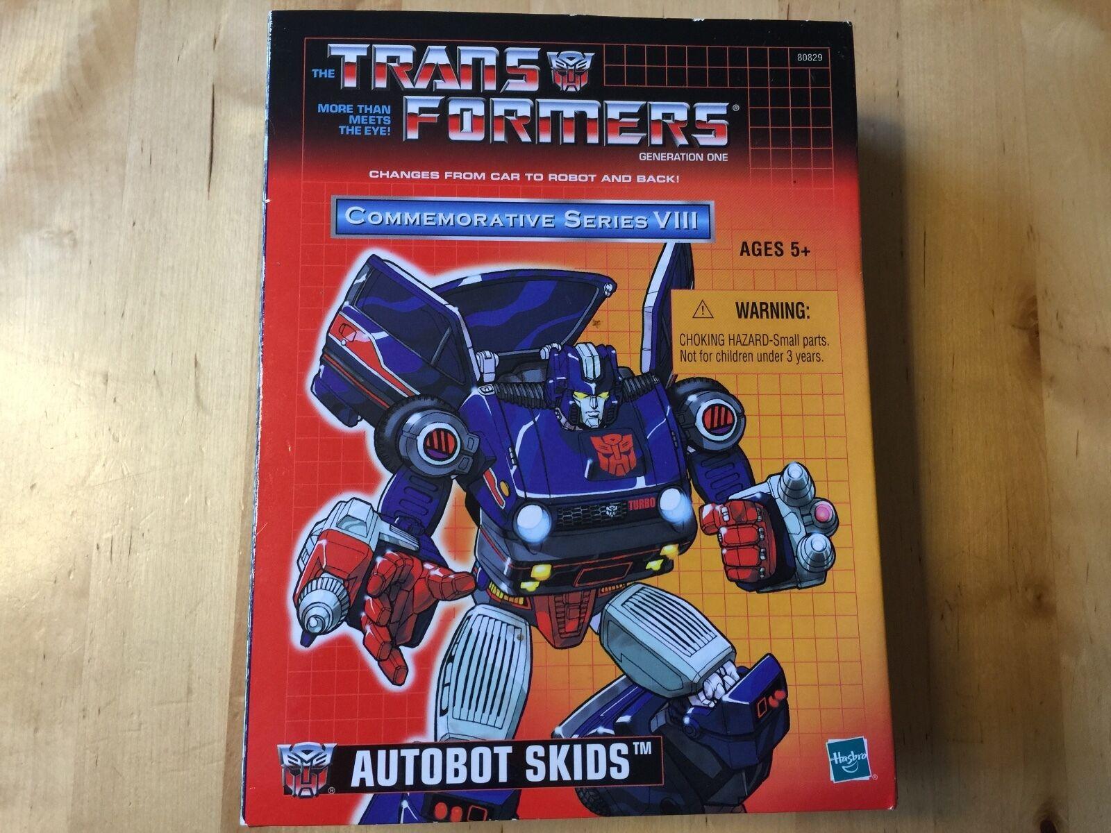 Transformers G1 2003 SKIDS MIB commemorative VIII VIII VIII hasbro reissue 05cdc5