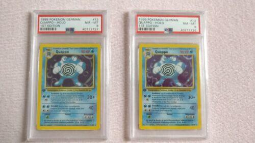 Pokemon Quappo PSA 8 1.Edition Deutsch Mint