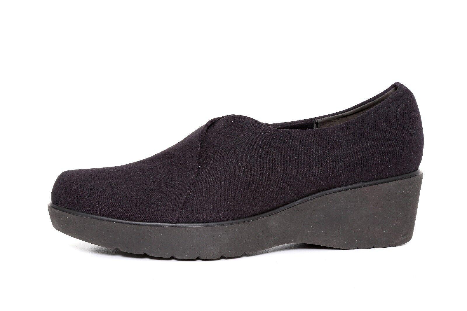 benvenuto a comprare Munro Donna  nero Canvas Slip On Platform Wedge scarpe scarpe scarpe 4323 Dimensione 7.5W  le migliori marche vendono a buon mercato