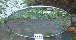 Art deco wandspiegel chrom kristal spiegel oval metall cm ebay
