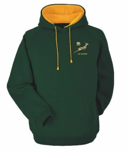 A Green and Gold S A Rugby Hoodie