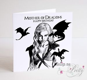 GAME OF THRONES DAENERYS MOTHER OF DRAGONS Birthday Card eBay