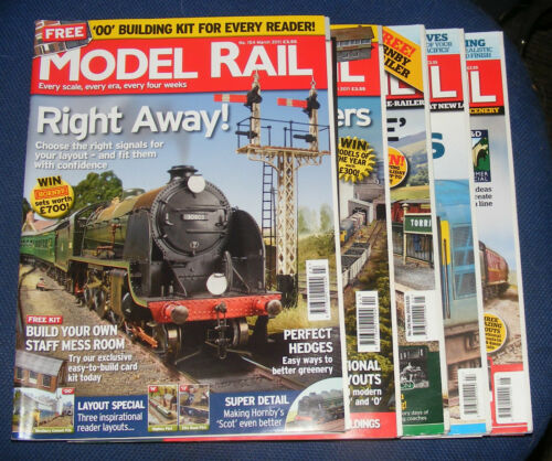 MODEL RAIL MAGAZINES VARIOUS ISSUES 2011