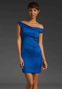 2a2830e7 $375 NWT Black Halo Jackie-O Off Shoulder Mini Dress Electric Blue ...