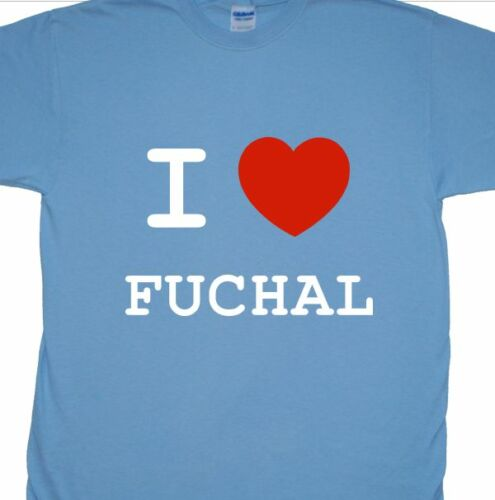 """/""""I Heart Love Fuchal/"""" T-Shirt Inspired By Red Dwarf Fiji, Lister, Cat People"""