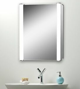bathroom cabinet w light mirror wire free demister 15583