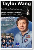 Nasa Astronaut Taylor Wang - First Chinese American In Space - Poster