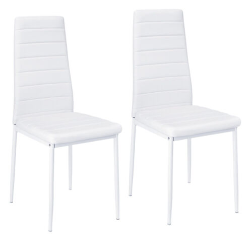 Toughened Tempered Glass Dining Table 4 6 Chairs White Kitchen Set Chrome Legs