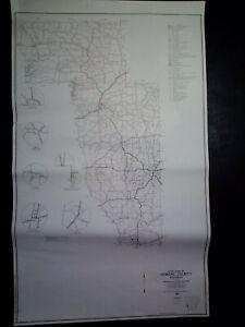 Details zu Vintage 1968 18x30 Arkansas General Highway Map Howard County