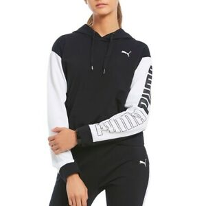PUMA-Modern-Sport-dryCELL-Cropped-Hoodie-Black-size-XSmall