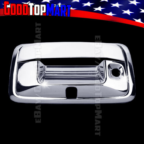 For GMC CANYON 2015 2016 Chrome Tailgate Handle Cover WITH Camera Hole Keyhole