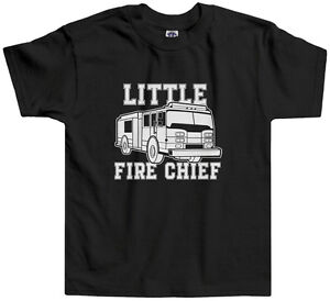 cefc981a0c9 Threadrock Kids Little Fire Chief Toddler T-shirt firefighter truck ...