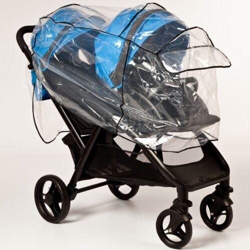 Regenschutz für Geschwister Kinder Wagen Jogger Buggy Regen Plane Baby Verdeck