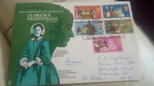 1970 Anniversaries Florence Nightingale Official FDC with Special Postmark - Chelmsford, United Kingdom - 1970 Anniversaries Florence Nightingale Official FDC with Special Postmark - Chelmsford, United Kingdom