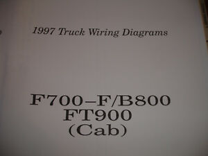 1997 ford truck f700 f800 b800 ft 900 electrical wiring diagram rh ebay com
