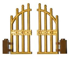 LEGO GOLD gate for princess castle house palace bars fence golden door