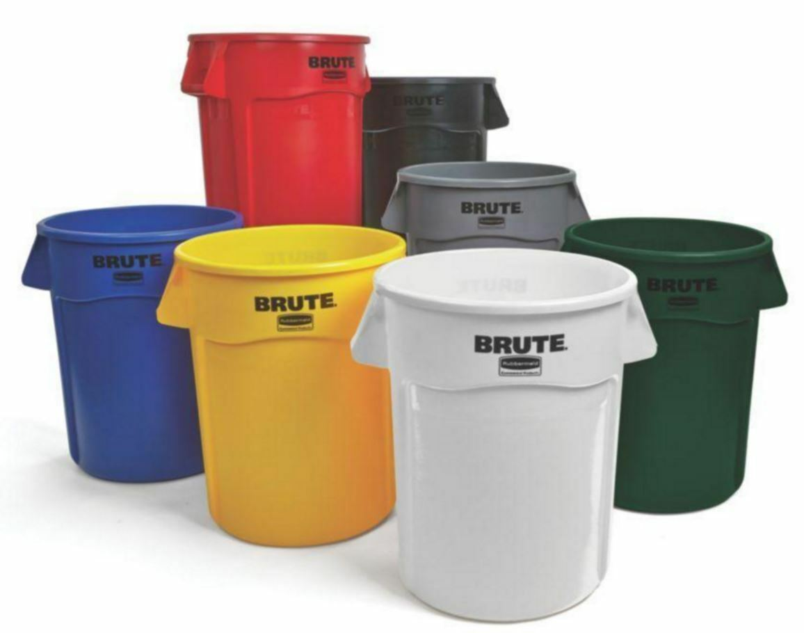 Rubbermaid Commercial Products Brute Garbage 32-Gallon Gal Bin Trash Can, No Lid