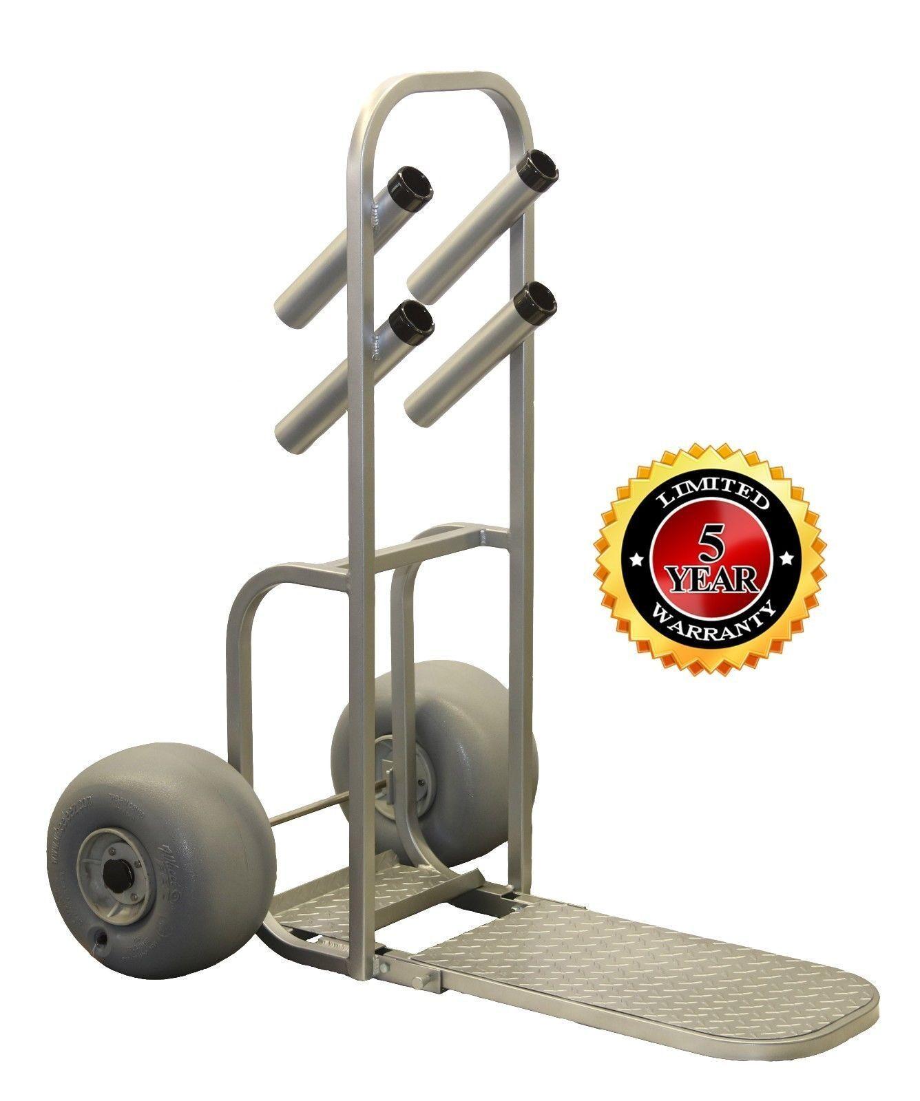 Plattinum, Beach Surf Cart Dolly with Wheeleez Easy Over Steps  All Aluminum  various sizes