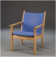 Lænestol, stof, Hans J. Wegner, Lænestol med stel