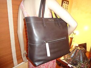 693f3141b44e NWT MIU MIU PRADA RR1934 Vitello Soft MAHOGANY Leather Shopping TOTE ...