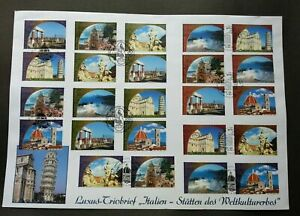 [SJ] United Nations World Heritage Italy 2002 Tourism (stamp FDC) *different PMK