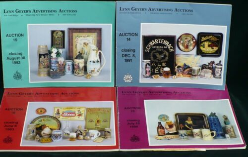 #14 #15 #16 & #17 Geyer Breweriana Beer Soda Auction Catalogs Prices