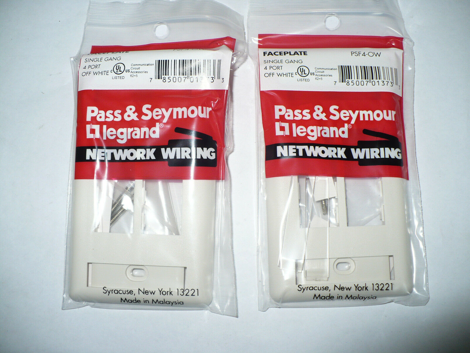 Pass Seymour Legrand Psf4 Ow Datacom Faceplate Off White Lot Of Wiring Accessories 2