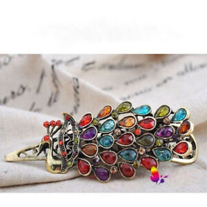 Chic-Vintage-Women-Lovely-Crystal-Rhinestone-Peacock-Hair-Barrette-Clip-Hairpin