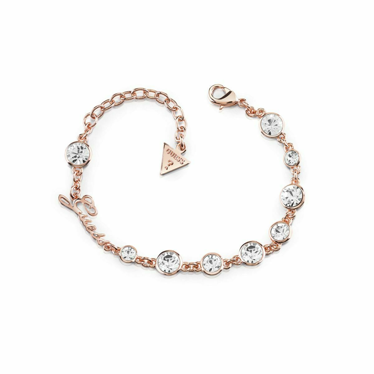 Guess Ladies Guess Crystal Beauty pink gold Bracelet
