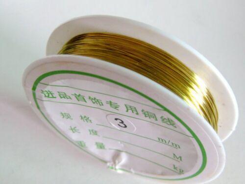 48 Metres Golden Brass Copper Beading Wrap Jewelry Wire Craft 0.3mm 28gauge