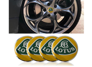 4 Stickers centre de roue Lotus 56 mm