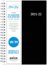 Blue Sky 2021 2022 Monthly Daily Planner Flexible Cover 5 X 8 Organizer New