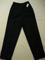 Talbots Cuffed Wool Pleated Lined Black Dress Pants Womens 6 (w-28 X 31.5)