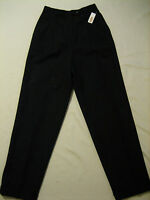 Talbots Cuffed Wool Pleated Lined Black Dress Pants Womens 6 (w-28 X 31.5)