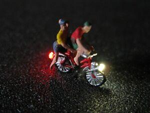 f67 n fahrrad mit led beleuchtung mit figur zwei. Black Bedroom Furniture Sets. Home Design Ideas