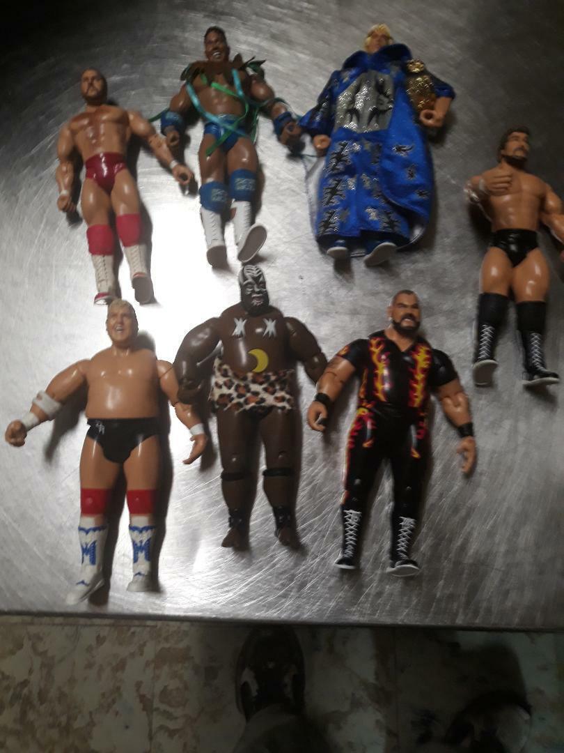 Jakks Classic súperEstrellaS WWE BRET HART Ted DiBiase Bam Bam Flair ARN Hogan Rock